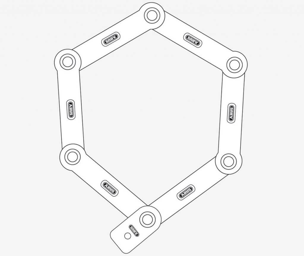 ABUS Bordo 6100-90 Folding Lock illustration