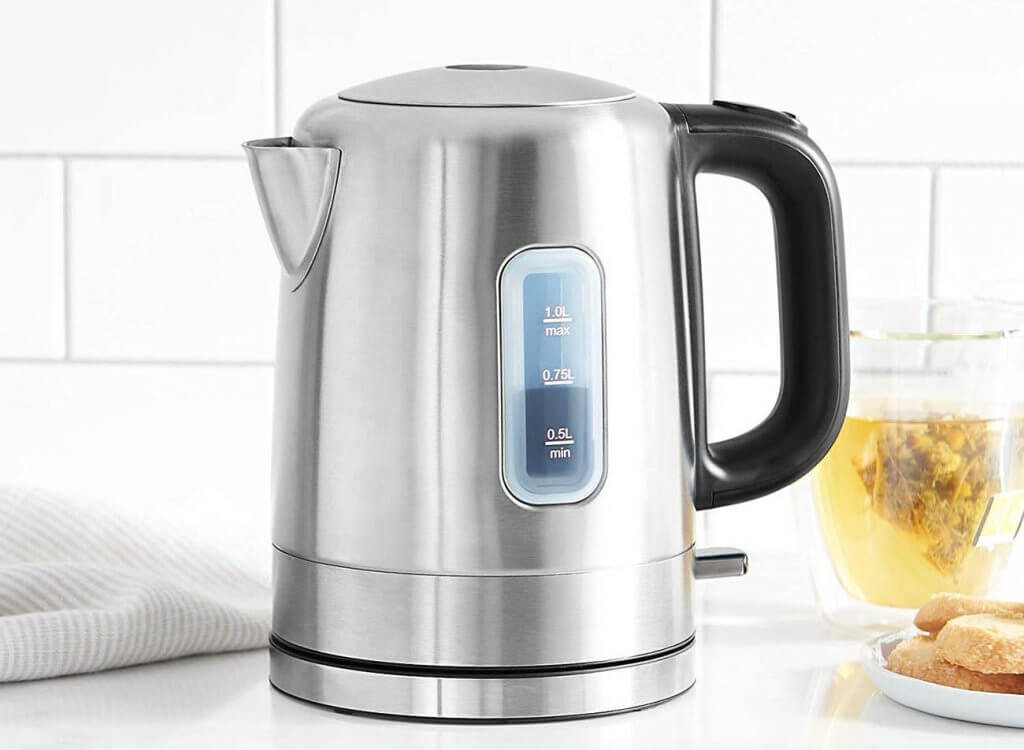 AmazonBasics Electric Hot Water Kettle in the kitchen
