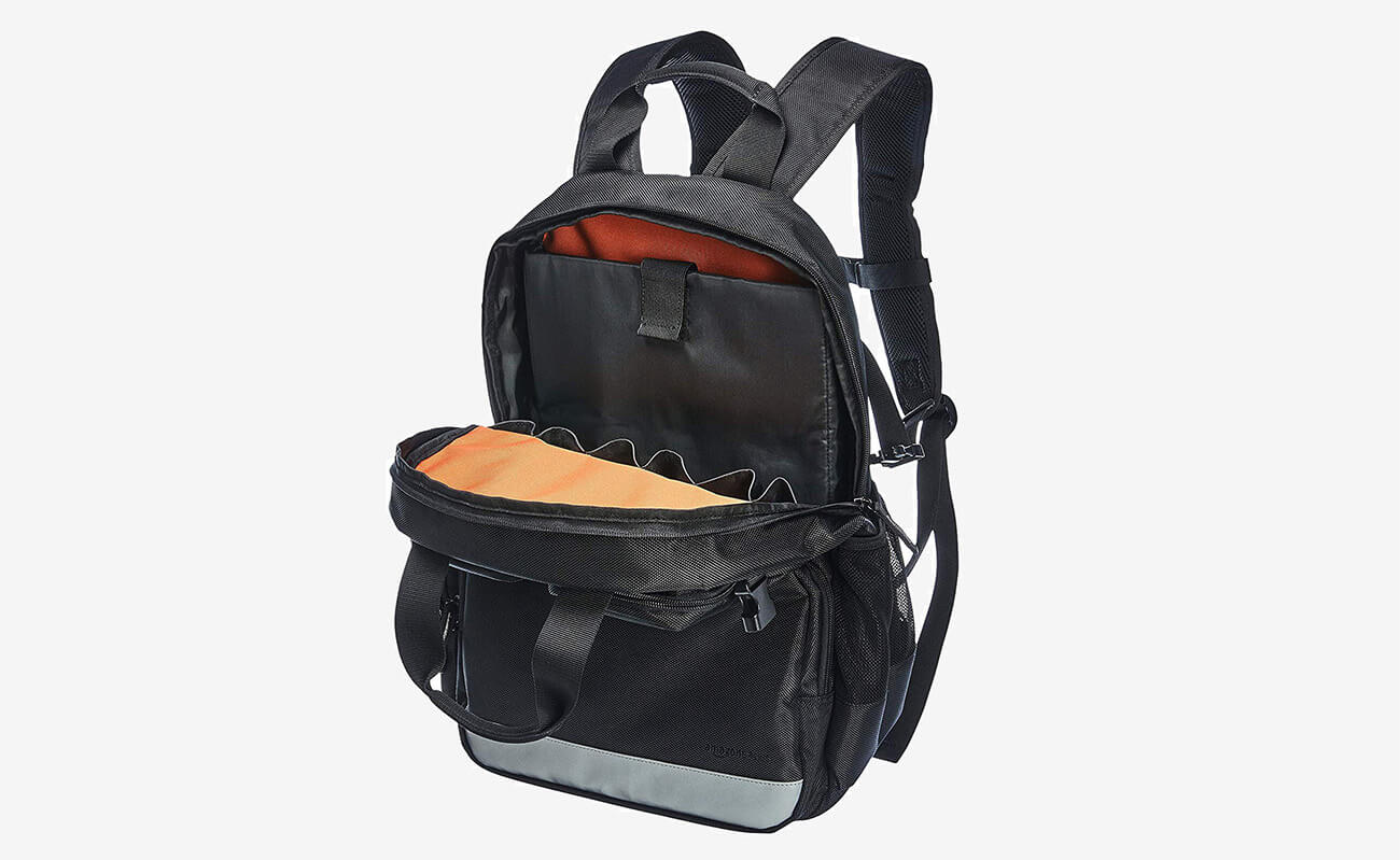 AmazonBasics Tool Bag Backpack open