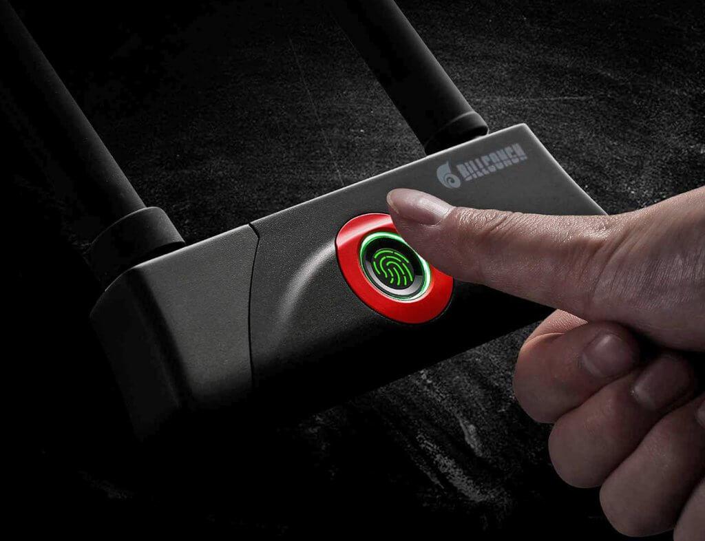 BILLCONCH U-Lock unlocked with fingerprint sensor
