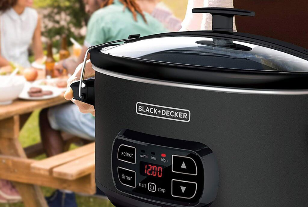 BLACK+DECKER Slow Cooker used for a garden party