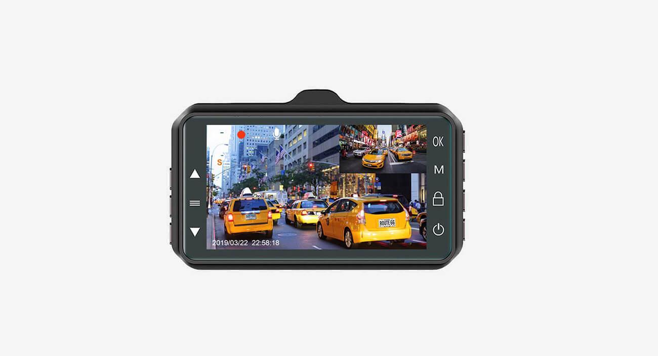 CHORTAU Dual Dash Cam dual lens
