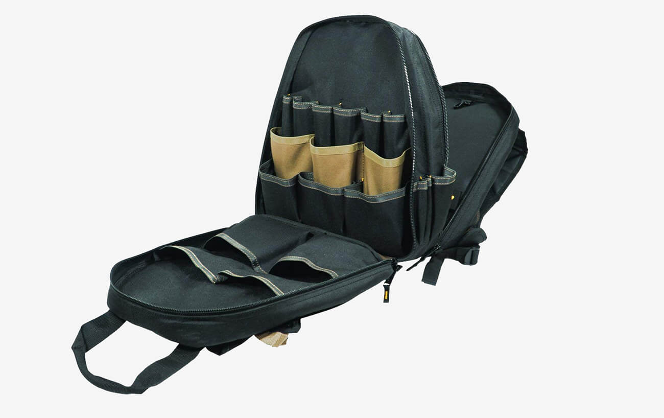 Open Carpenter's Tool Backpack
