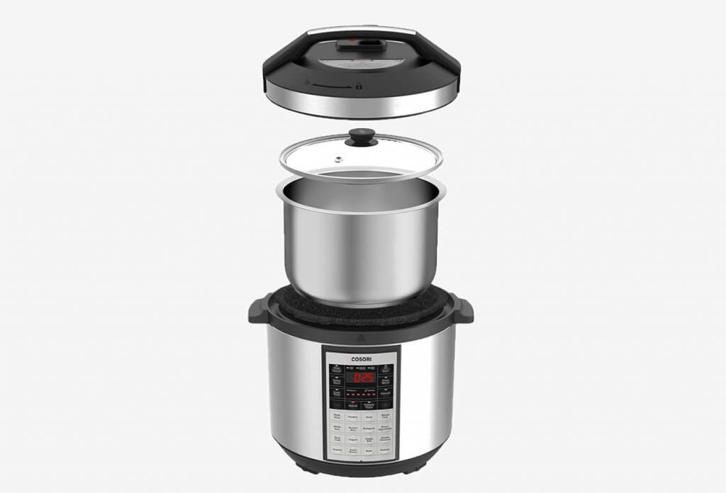 COSORI Instant 8-In-1 Slow Cooker with all components