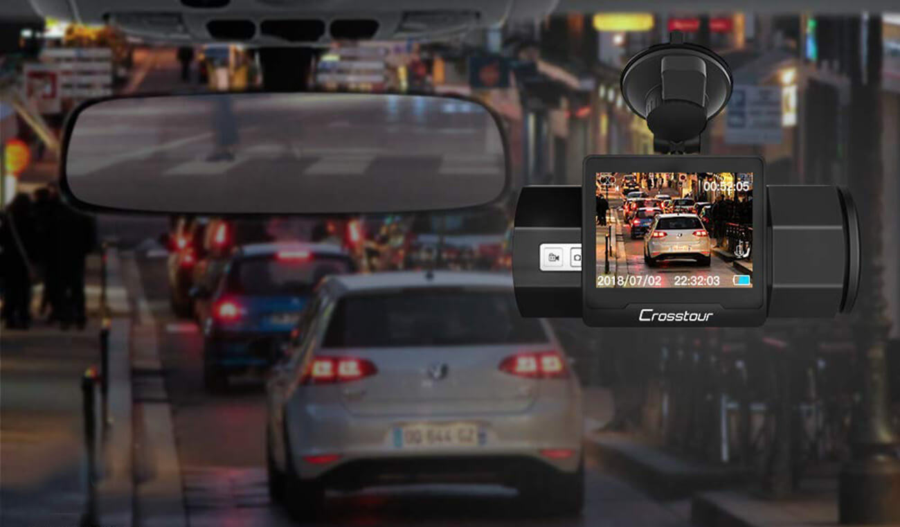 CROSSTOUR CR700 Dash Cam night vision