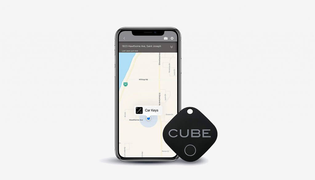 CUBE Smart Tracker and phone app