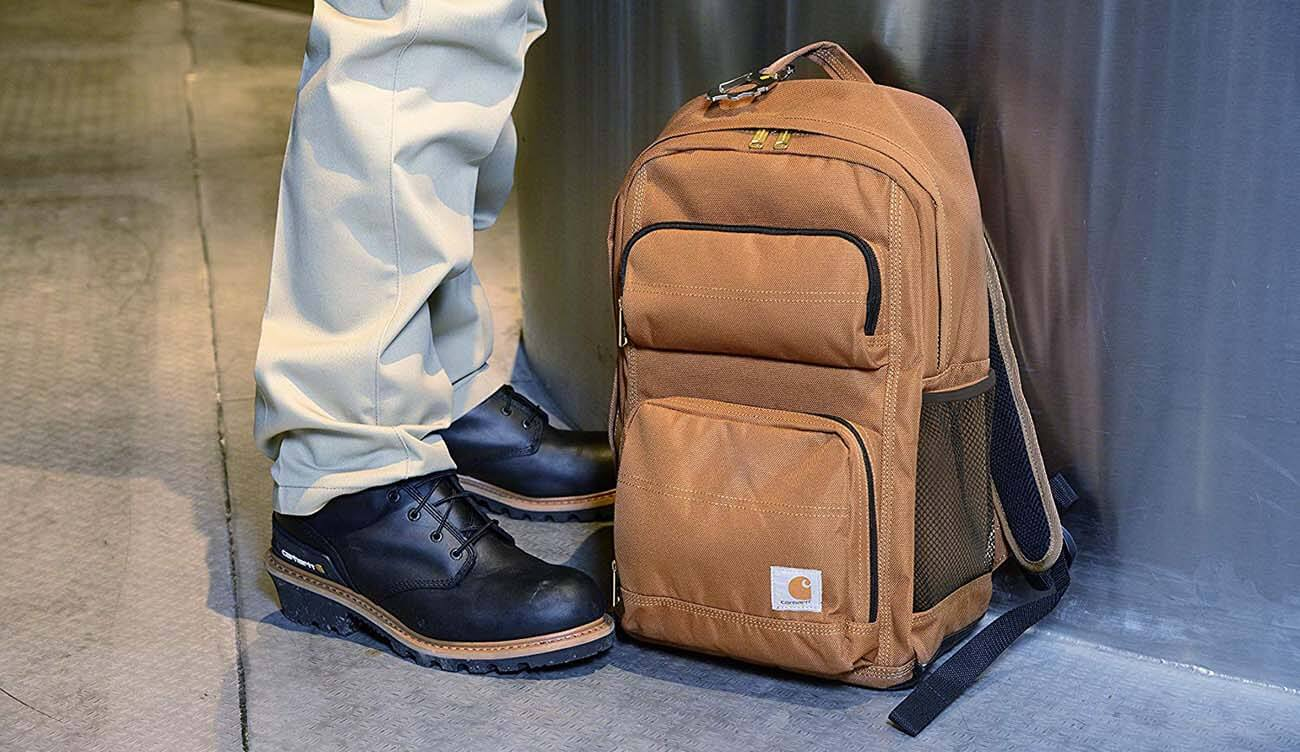 Carhartt Legacy Work Backpack on construction site