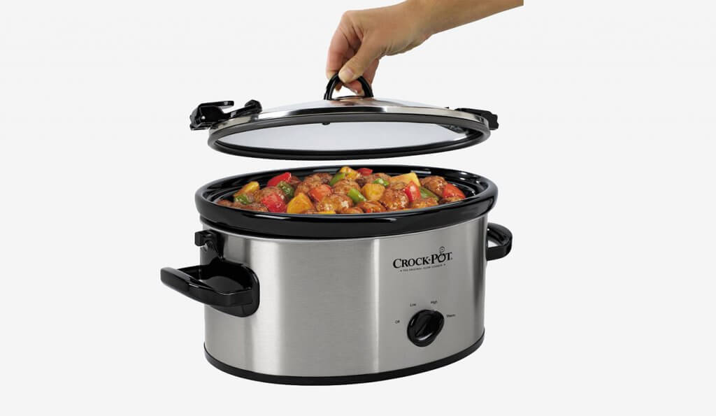 Crock-Pot Cook & Carry Manual Slow Cooker with meal inside