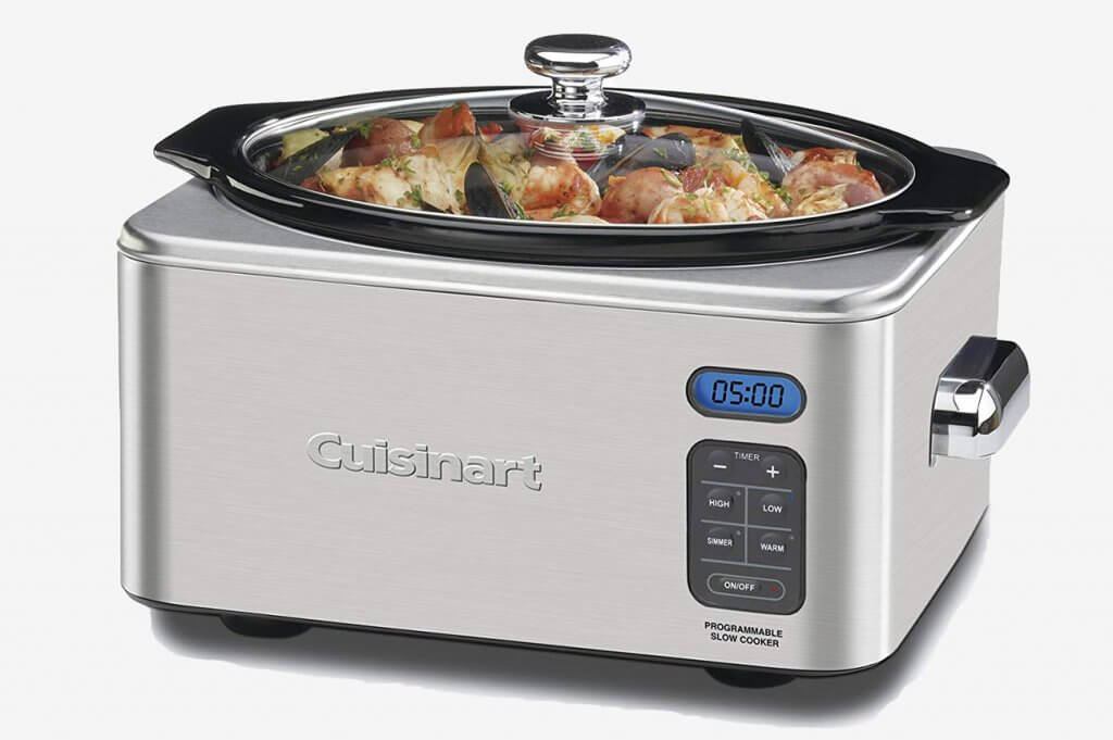 Cuisinart PSC-650 Slow Cooker with prepared meal inside