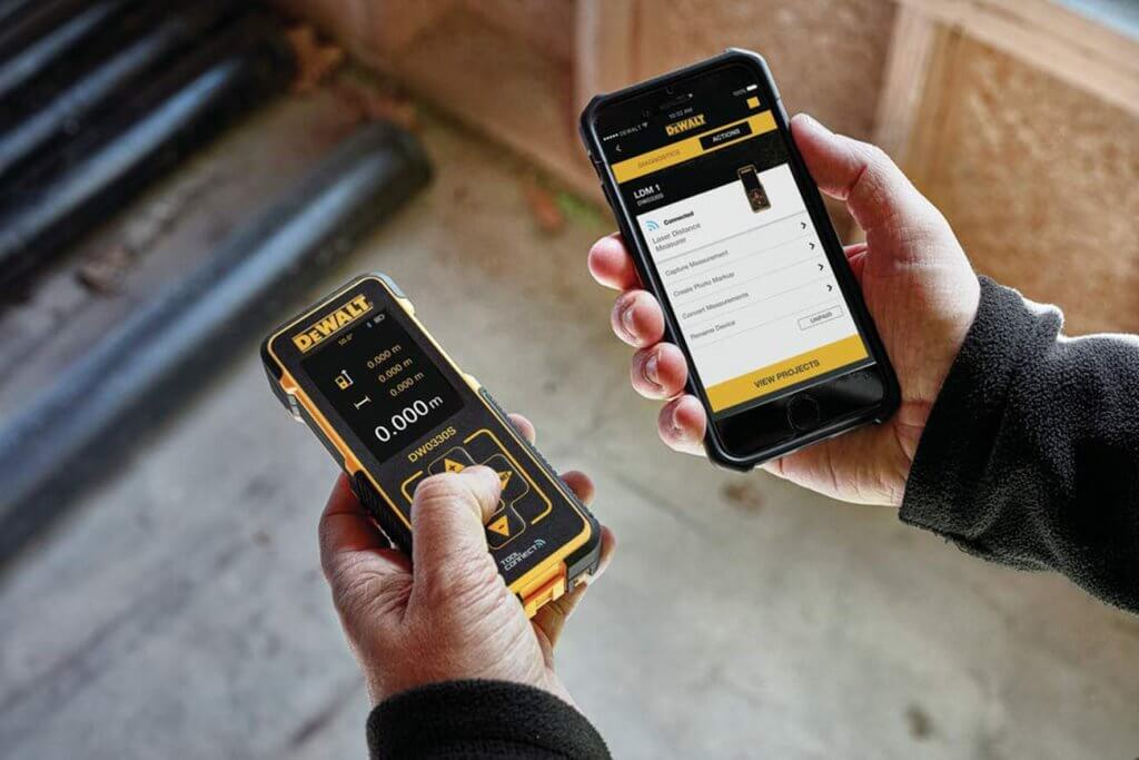 DEWALT Laser Measure and smartphone app