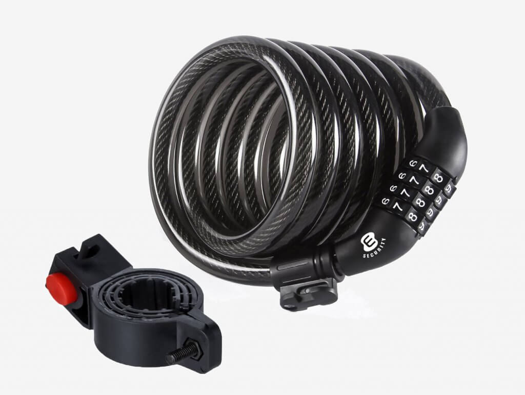 ETRONIC M6 Self-Coiling Cable Bike Lock
