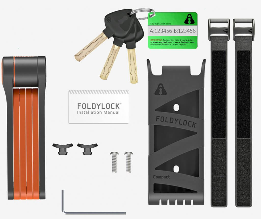 FOLDYLOCK Compact Extreme Bike Lock accessories