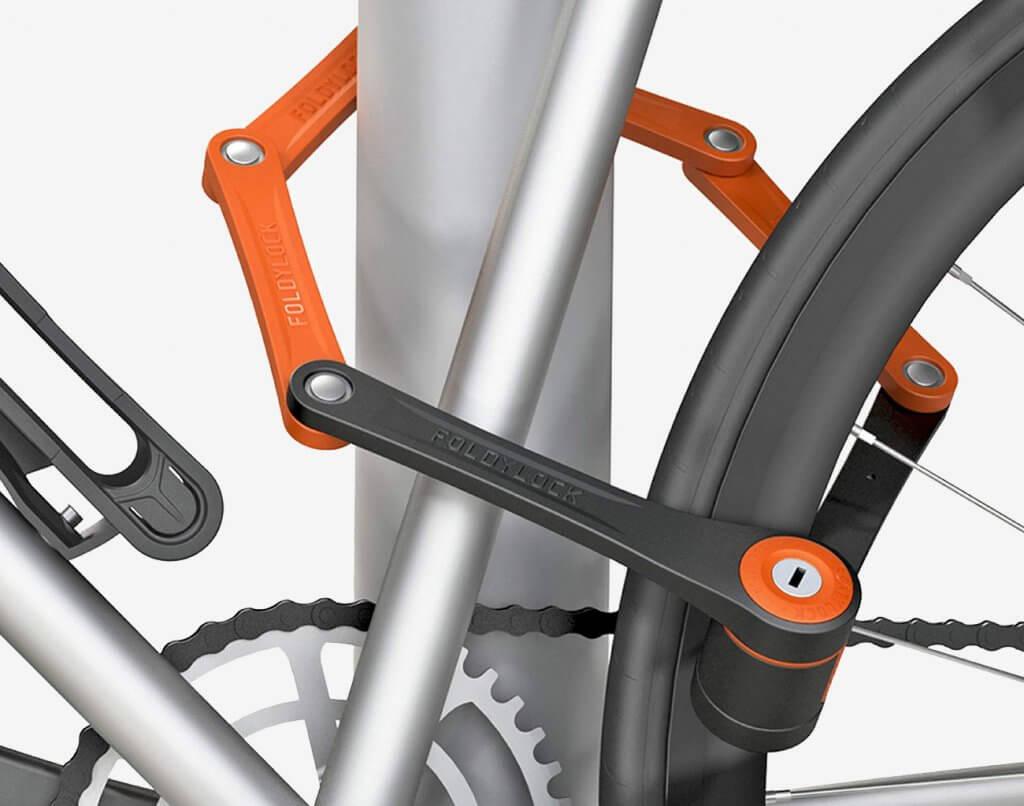 FOLDYLOCK Compact Extreme on a bike frame