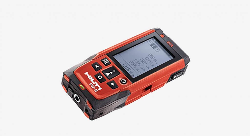 Hilti 2062051 PD-E Laser Range Meter display