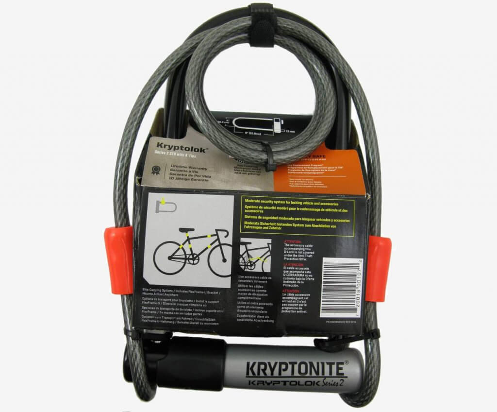 Kryptonite Kryptolok 12.7mm U-Lock packaging
