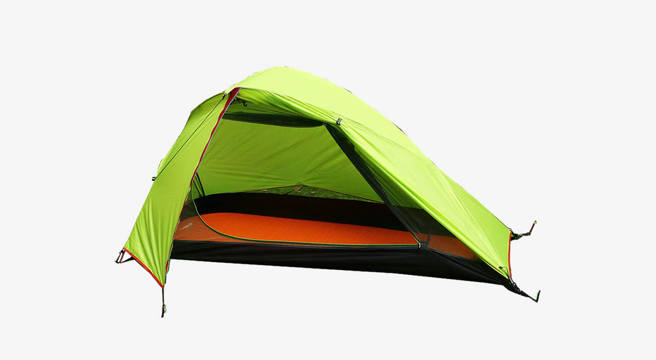 LUXE TEMPO 1 Person Backpacking Tent with open cover