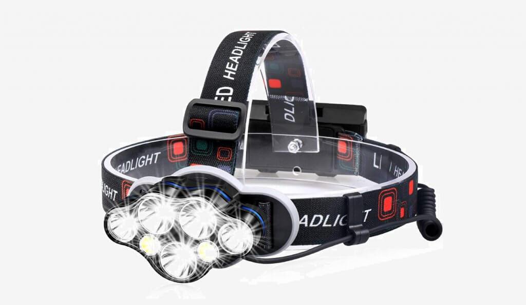 MOICO 7-LED Rechargeable Headlamp