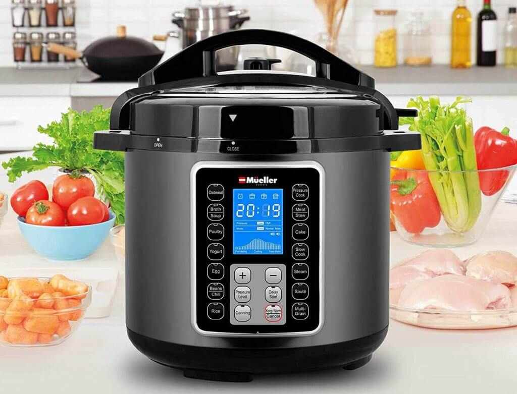 MUELLER Ultrapot 6Q Pressure Cooker in the kitchen