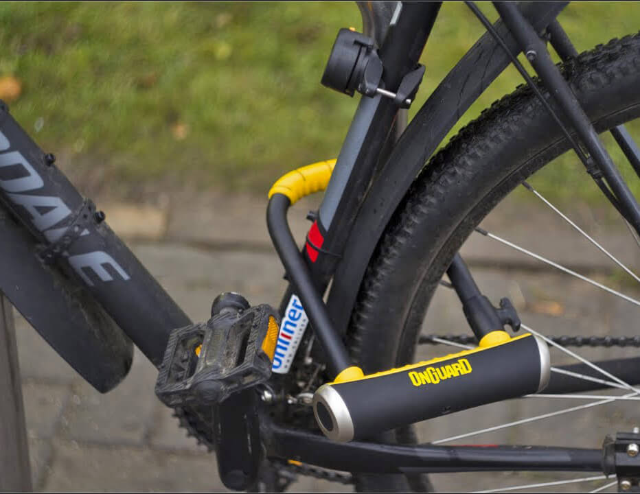 ONGUARD Brute STD U-Lock on a bike