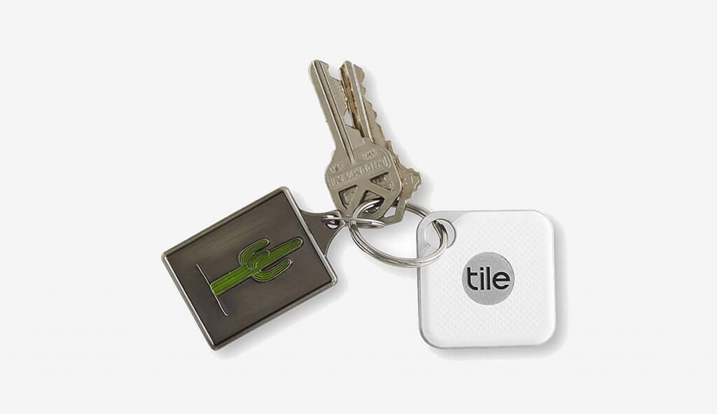 TILE Pro Ring Tracker on key chain