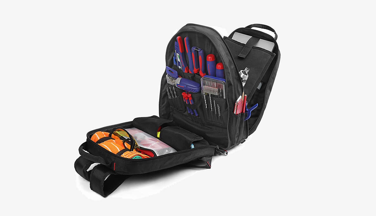 WORKPRO Tool Backpack design with tools