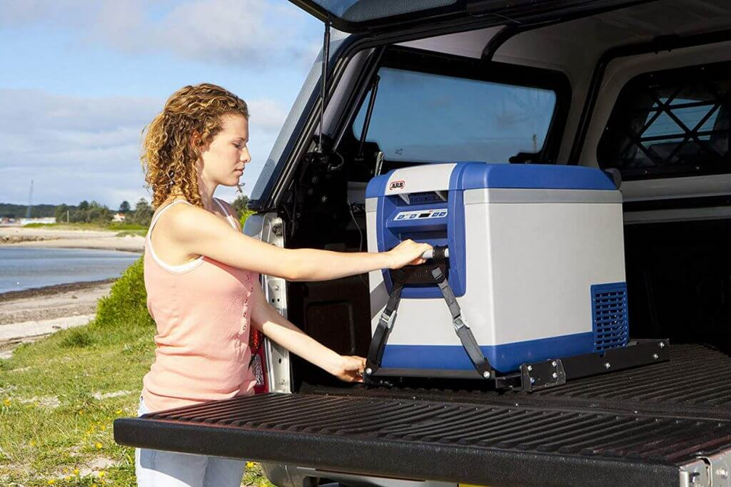 ARB Portable Fridge Freezer in the trunk