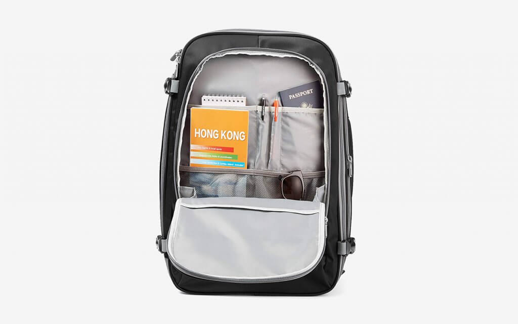 Open AmazonBasics Carry-On Travel Backpack