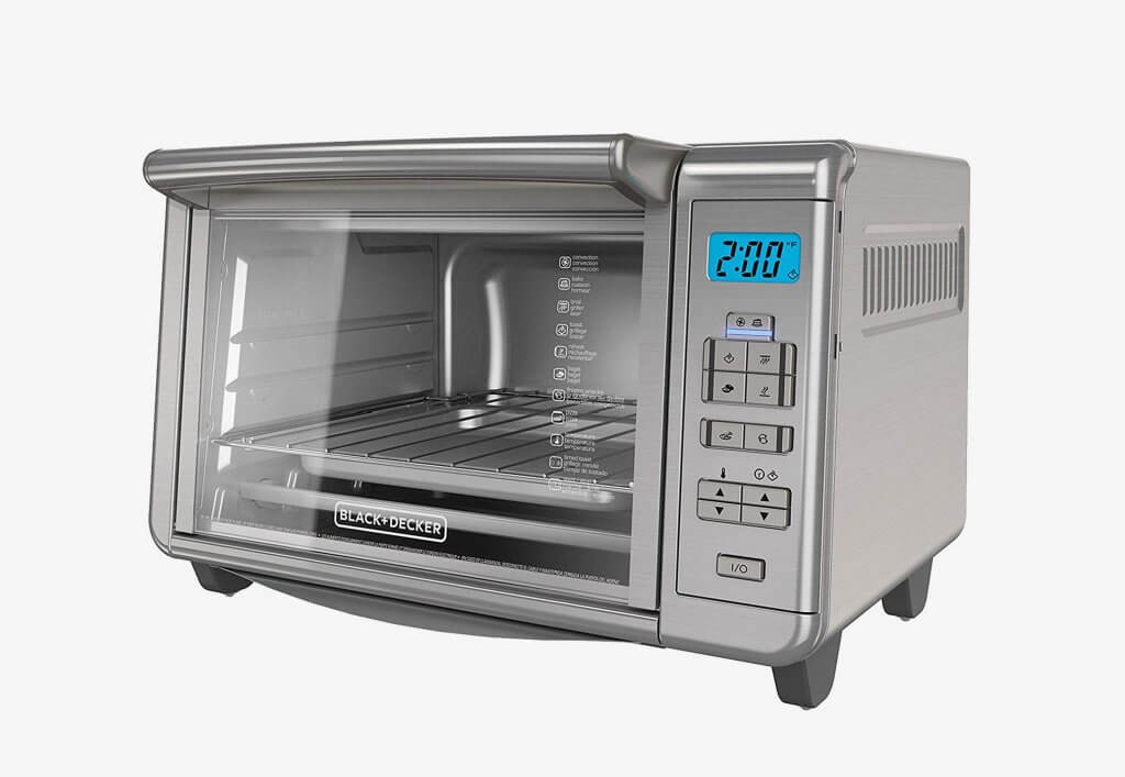 BLACK+DECKER B00QNUBM12 6-Slice Digital Convection Countertop Toaster Oven