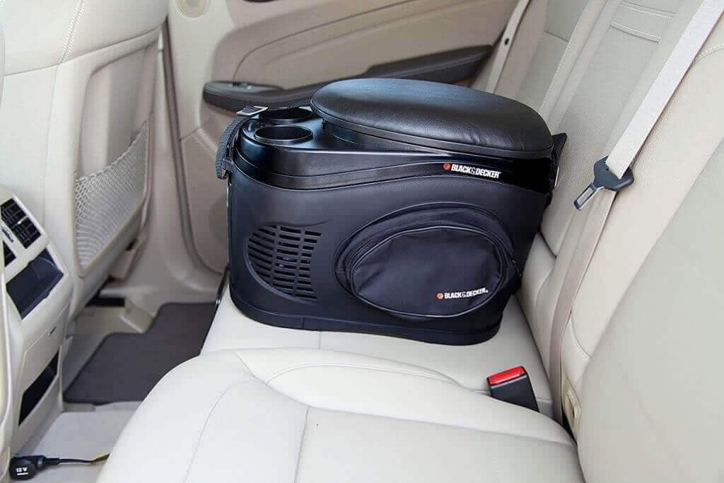 Black & Decker TC212B in carrying case on the back seat