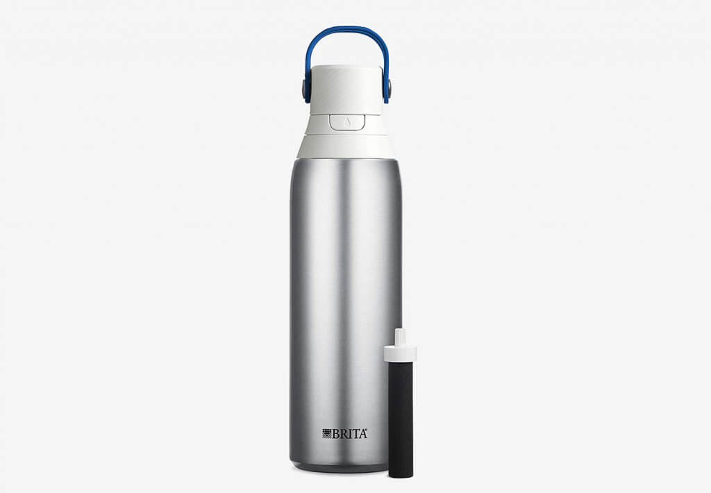 Brita 20-Ounce Stainless Steel Premium Filtering Water Bottle