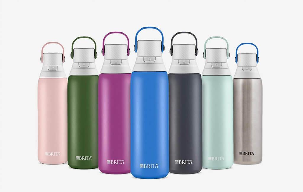 Brita 20-Ounce Stainless Steel Premium Filtering Water Bottle