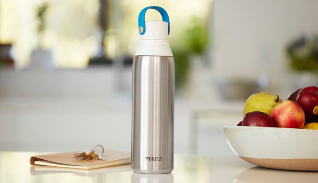Brita 20-Ounce Stainless Bottle in the kitchen