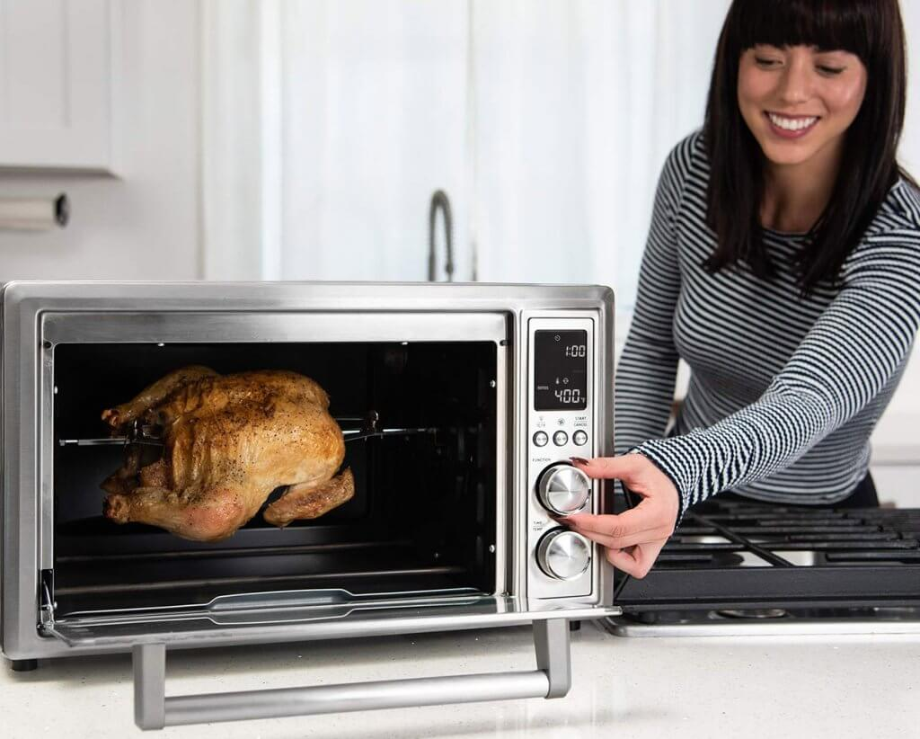 Roasting a whole chicken in the COSORI CO130-AO Air Fryer Toaster Oven