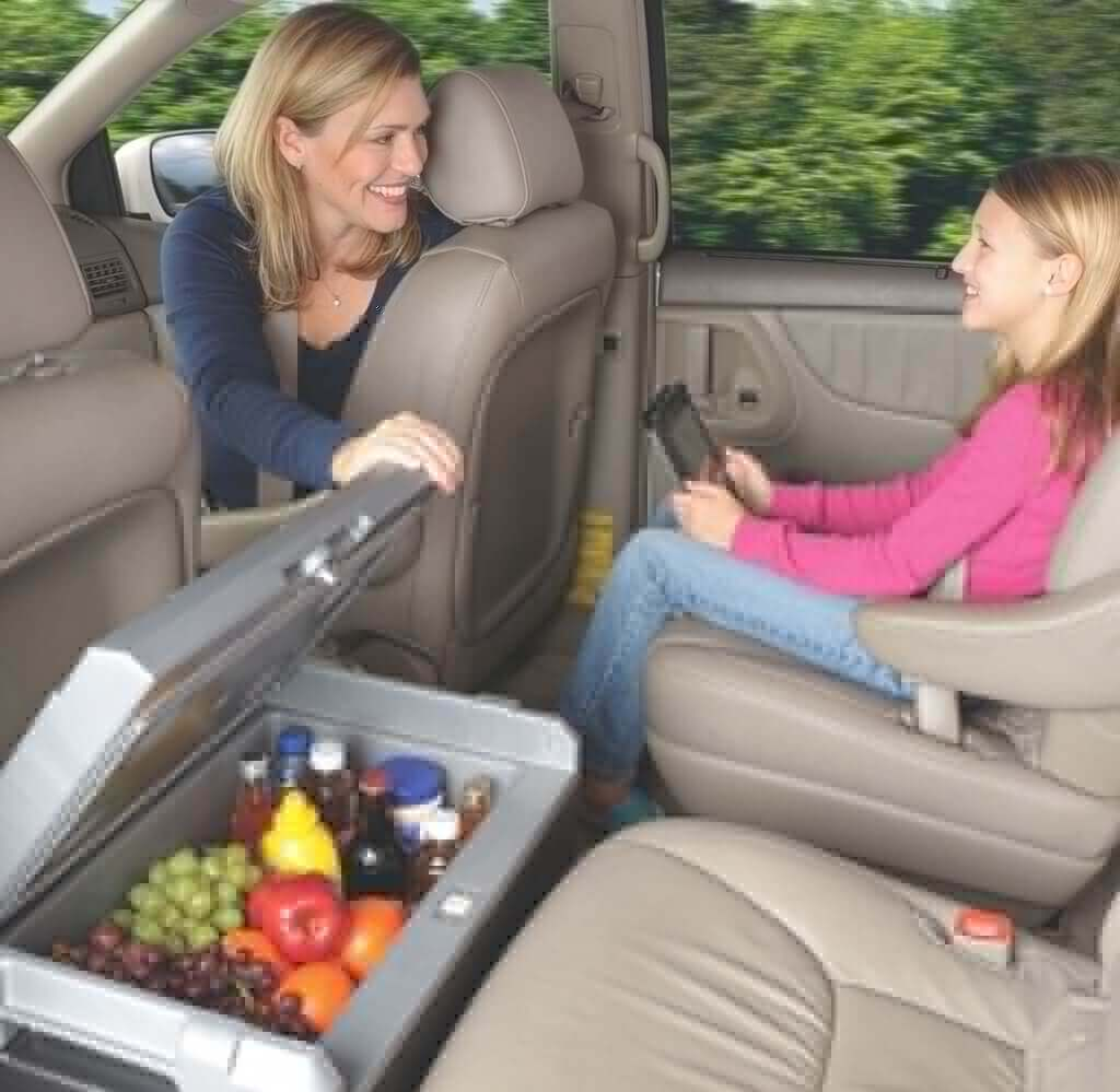 Coleman 40-Quart Powerchill Thermoelectric Cooler in a car