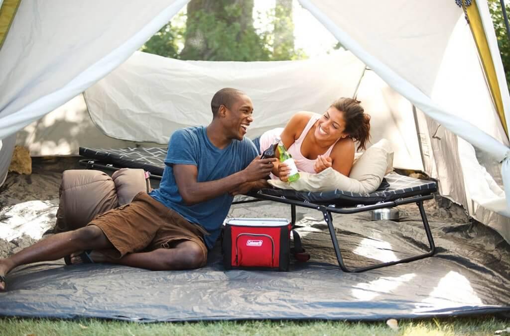 Coleman ComfortSmart Cot in tent