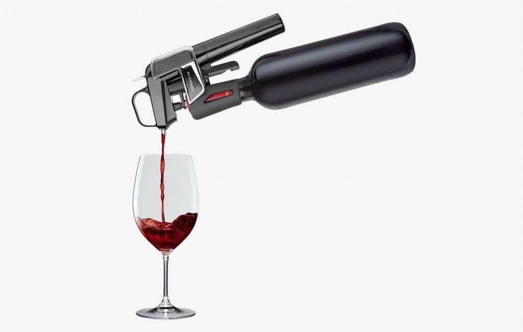 Coravin Model Two and wine glass