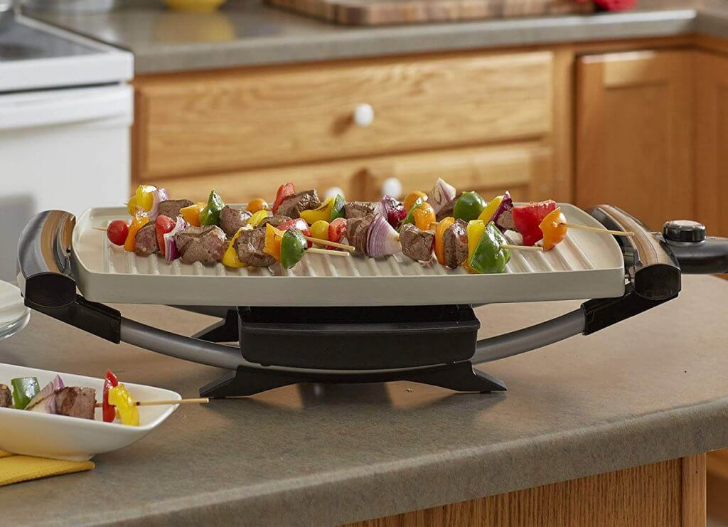 George Foreman Indoor/Outdoor Electric Grill in the kitchen