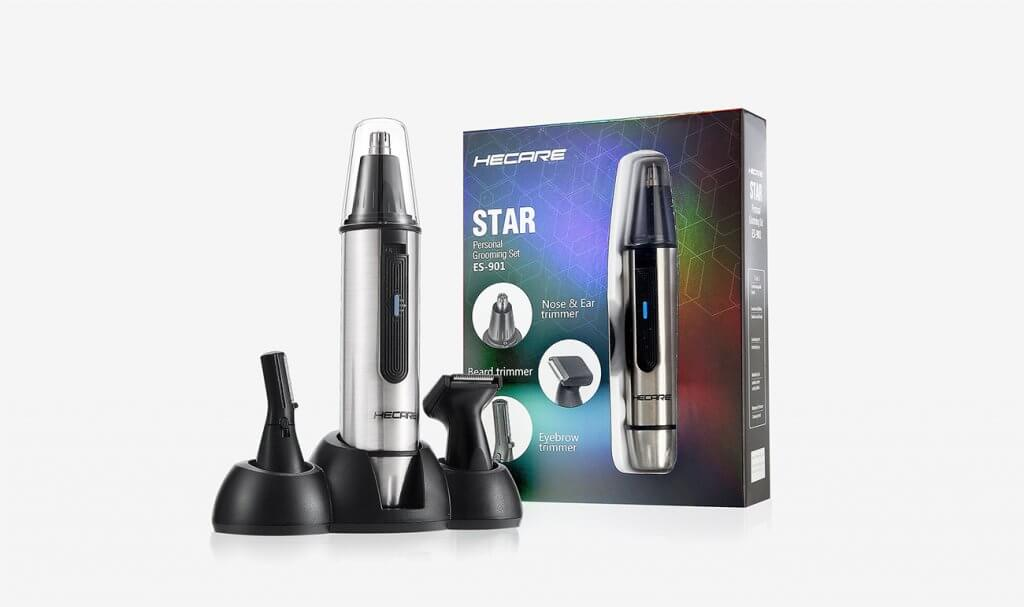 HECARE Ear and Nose Hair Trimmer and accessories