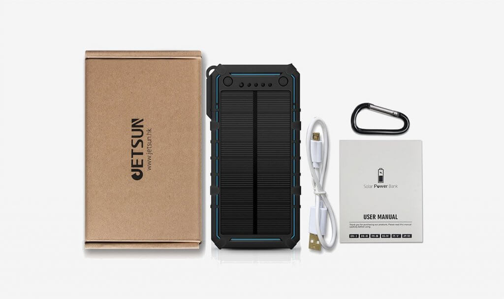 JETSUN Solar Charger and accessories