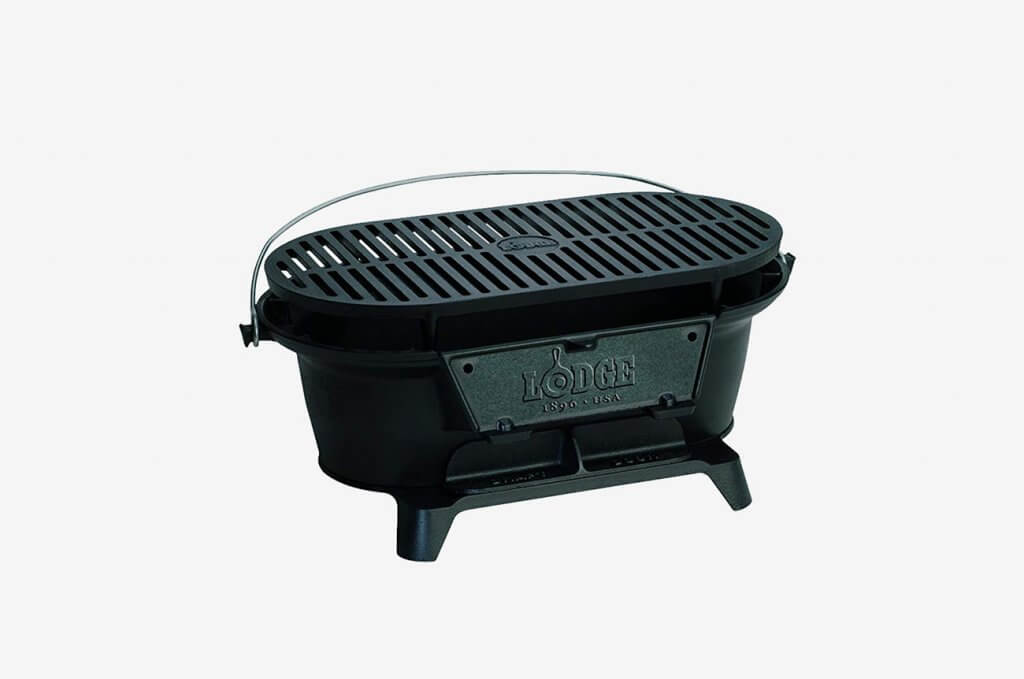 Lodge Cast Iron Sportsman's Hibachi-Style Charcoal Grill
