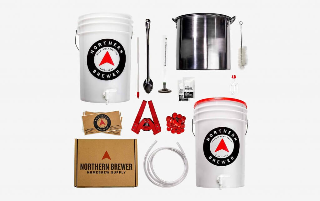 Northern Brewer Homebrewing 5 Gallon Starter Set with Testing Equipment