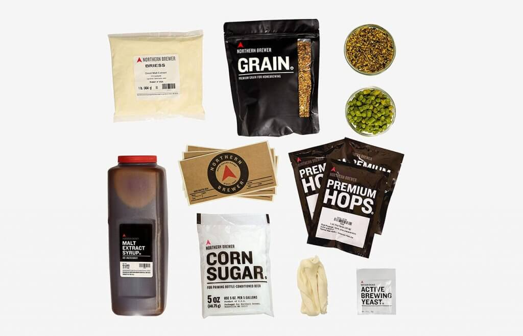 Northern Brewer Homebrewing Starter Set ingredients
