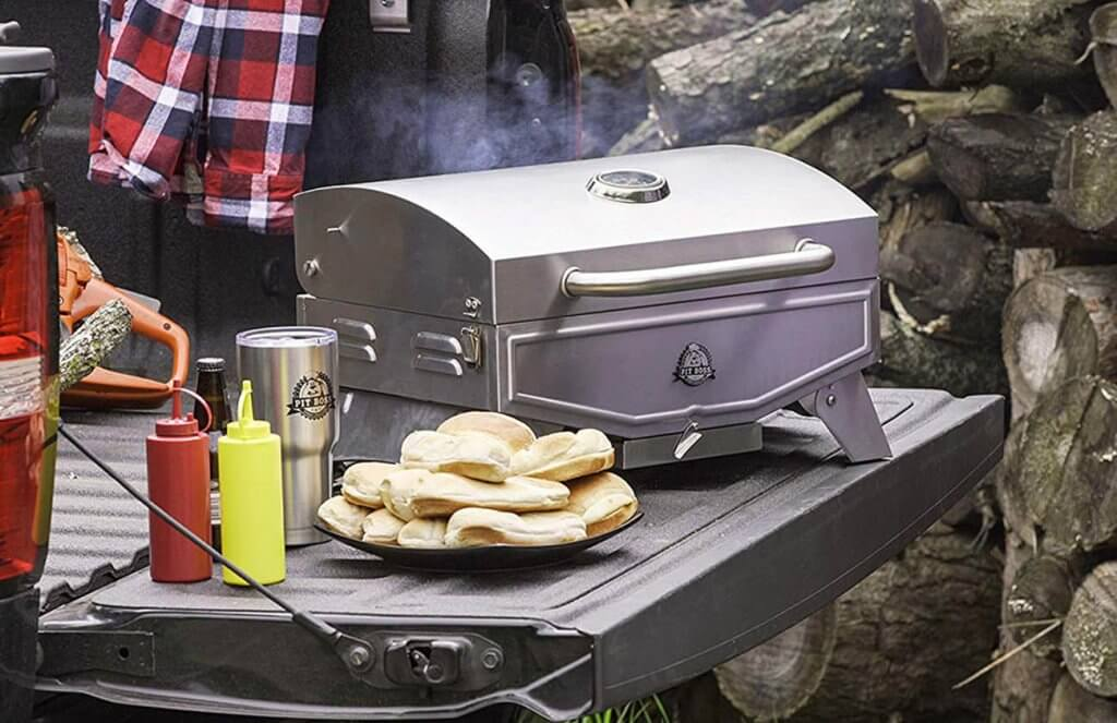 Pit Boss Grills Pit Stop Single-Burner on a camping trip