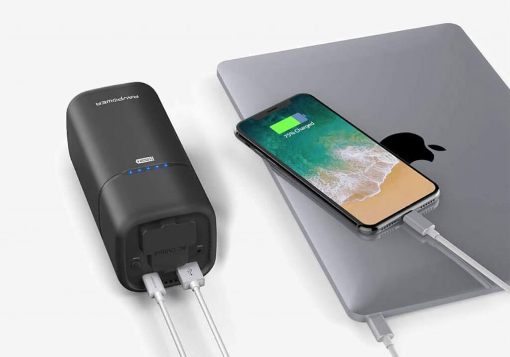 RAVPower AC Outlet External Battery Pack charging iPad