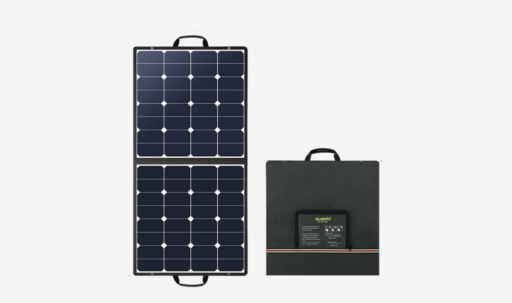 SUAOKI 100-Watt Solar Charger folded up