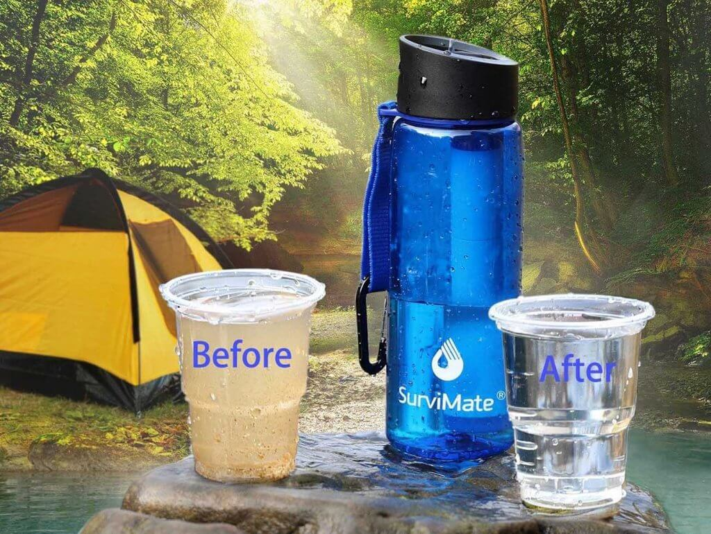 SurviMate Filtered Water Bottle