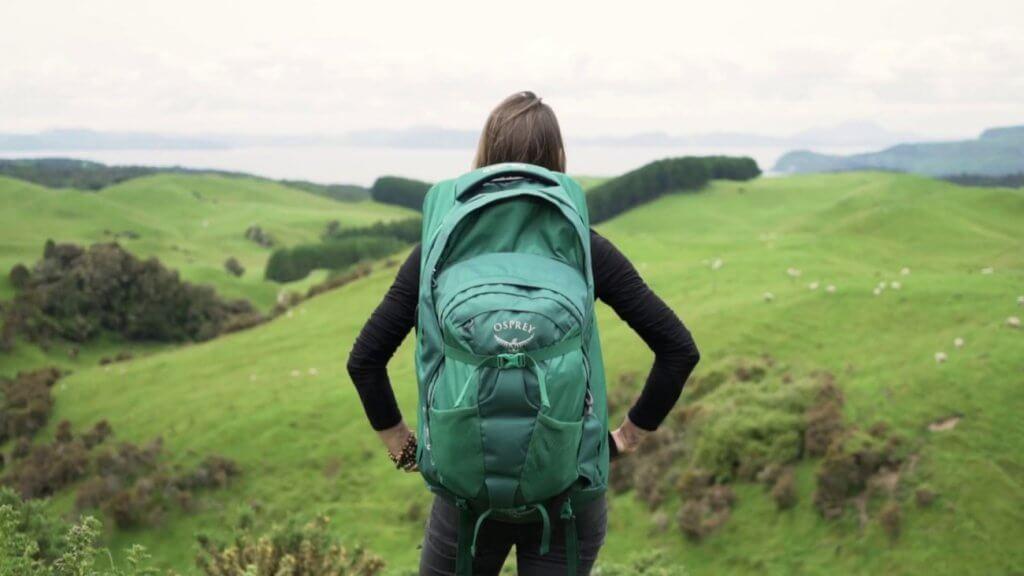 Travel Backpack on a hiking trip