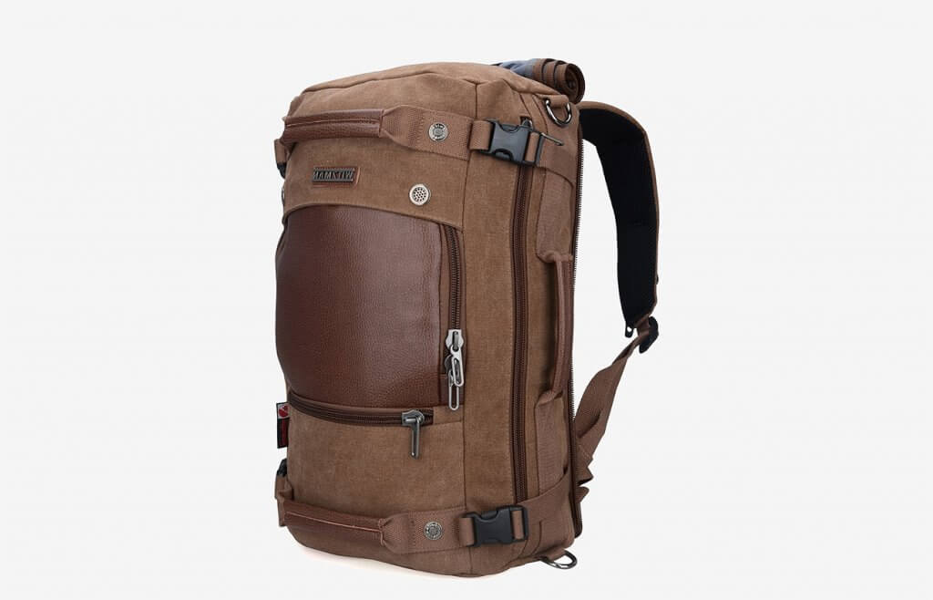 WITZMAN Vintage Duffel Travel Backpack