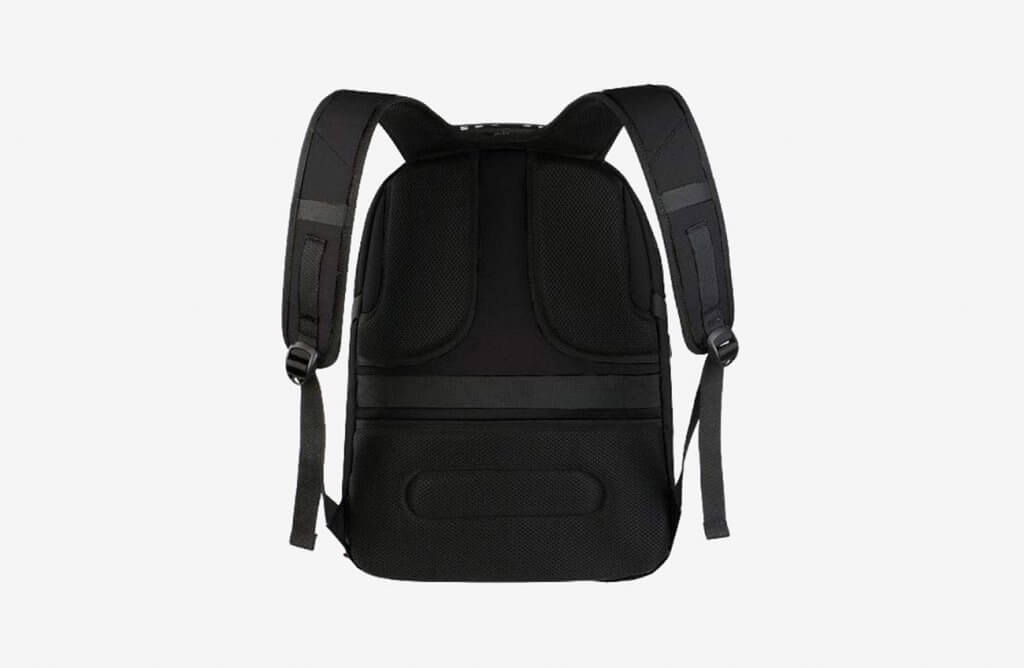 Back of the YOREPEK Extra Large Travel Backpack