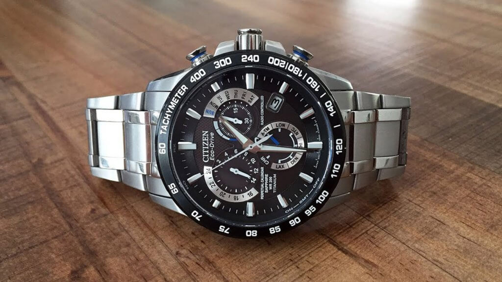 Citizen Men's Eco-Drive Titanium Perpetual Chrono Atomic Watch